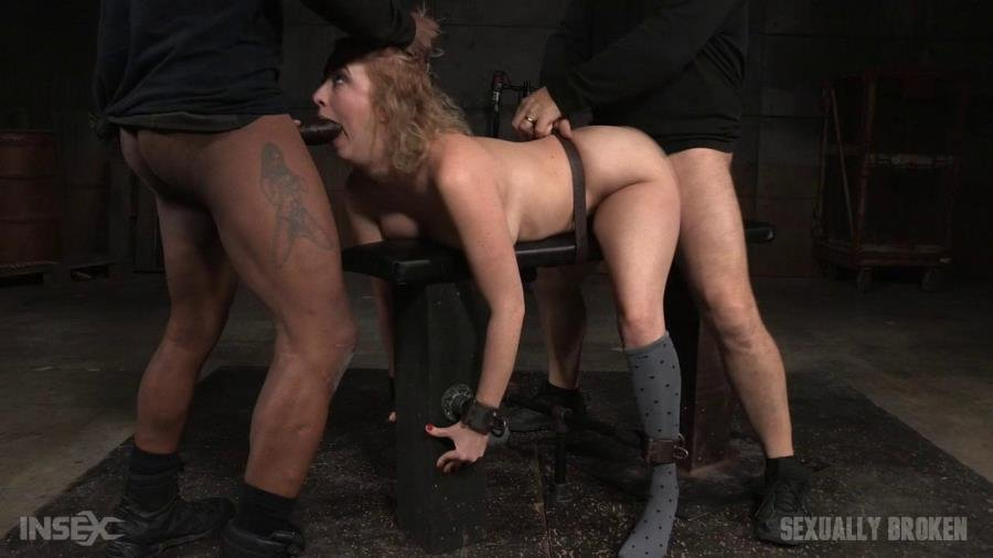 SexuallyBroken: (Cherry Torn, Matt Williams, Jack Hammer) - All natural sex bomb Cherry Torn bound doggystyle and facefucked by BBC with merciless fucking! [HD 720p / 726 MB] - BDSM / USA