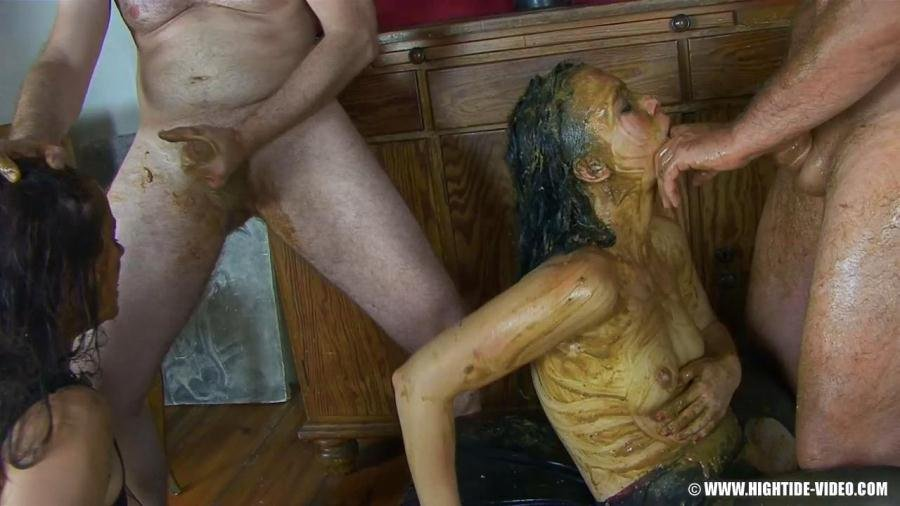 Hightide-Video: (Betty, Victoria, 4 males) - Breaking in betty [HD 720p / 1.69 GB] - Scat / Group