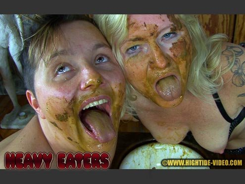 Hightide-Video: (Penelope, Marlen, 2 males) - Heavy eaters [HD 720p / 1.44 GB] - Scat