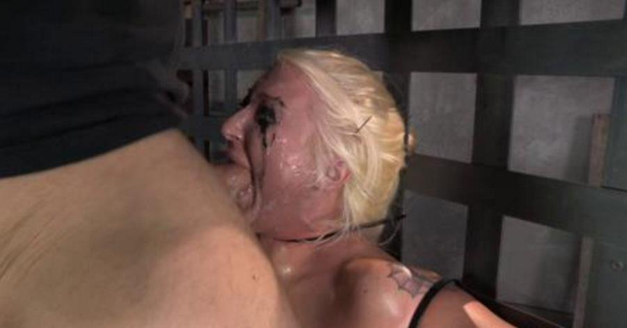 SexuallyBroken: (Leya Falcon, Matt Williams) - Big titted blonde Leya Falcon ziptied onto a sybian, epically messy deepthroat and throatboarding! [SiteRip / 112 MB] - BDSM / Bondage
