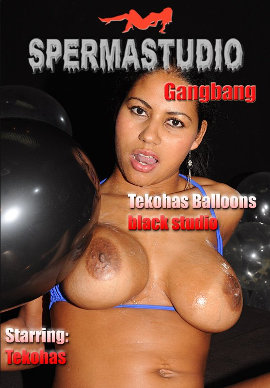 Sperma-Studio: (Tekohas) - Tekohas Balloons in black studio [HD 720p / 750 MB] - Bukkake / Germany