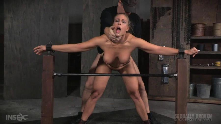 SexuallyBroken: (Angel Allwood) - Angel Allwood BaRS show continues with a spit roasting on hard cock, brutal BBC deepthroat! [HD 720p / 415 MB] - BDSM / Big Tits