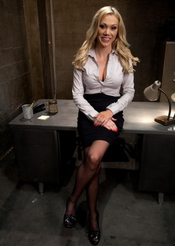 BoundGangBangs: (Samantha Sin) - Sexy Blonde Prison Warden with Big Tits gets Gangbanged by Horny Inmates [SD / 397 MB] - BDSM / Gang Bang