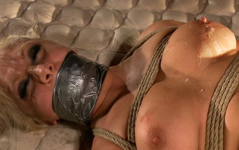BoundGangBangs: (Lea Lexis) - Hot Interracial Gangbang with Smoking Hot Blonde [SD / 378 MB] - BDSM / Gang Bang
