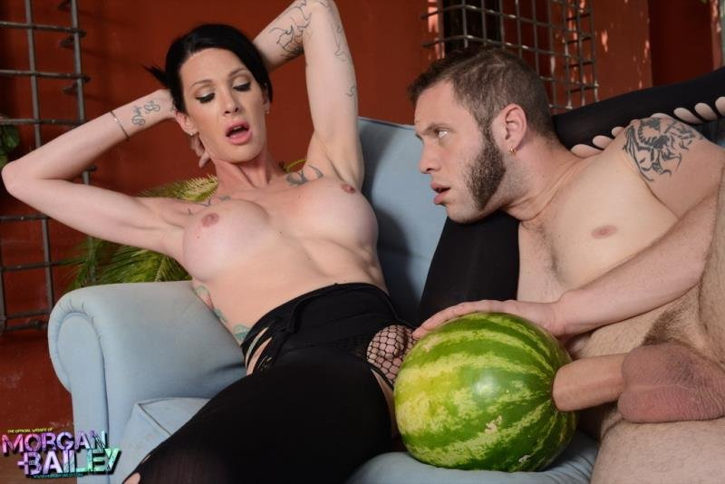 Morgan-Bailey: (Morgan Bailey) - Fruit Entertainments With The Transsexual [HD720p / 729 MB] - Transsexual, Shemale, Fetish, Tattoo, Masturbation, Cumshot, Anal