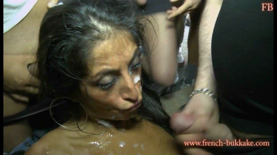 French-Bukkake: (Zahia) - Group sex [HD 720p / 890 MB] - Bukkake / Gang Bang