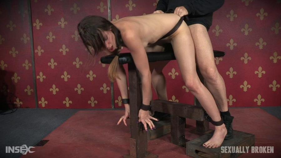 SexuallyBroken: (Zoey Laine) - Zoey Laine Bound to Bench and Fucked Until Mindless and Drooling! [HD 720p / 865 MB] - BDSM / Rough Sex