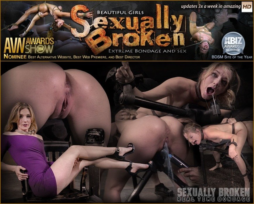 SexuallyBroken: (Mona Wales) - Stunning Mona Wales dicked down by BBC in tight bondage, massive squirting multiple orgasms! [HD 720p / 858 MB] - BDSM / Rough Sex