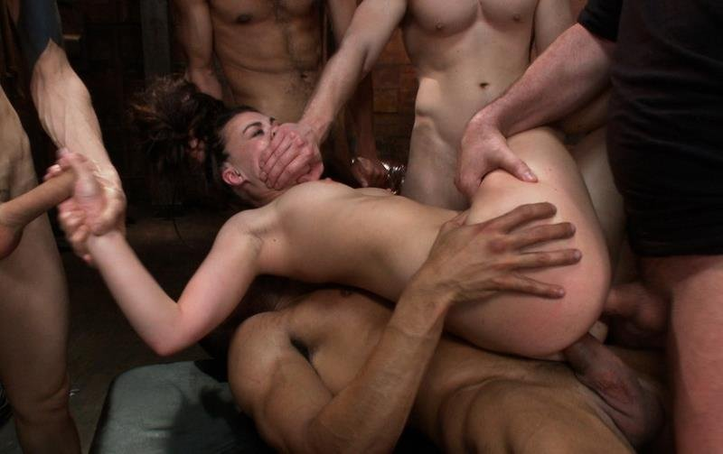 BoundGangBangs: (Tiffany Doll) - Gorgeous French Girl Taken Down in Rough Gangbang [HD / 656 MB] - BDSM / Gang Bang