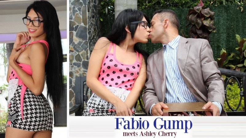 Trans500: (Ashley Cherry) - Fabio Gump Meets Ashley Cherry [FullHD1080p / 1.10 GB] - Transsexual / Anal