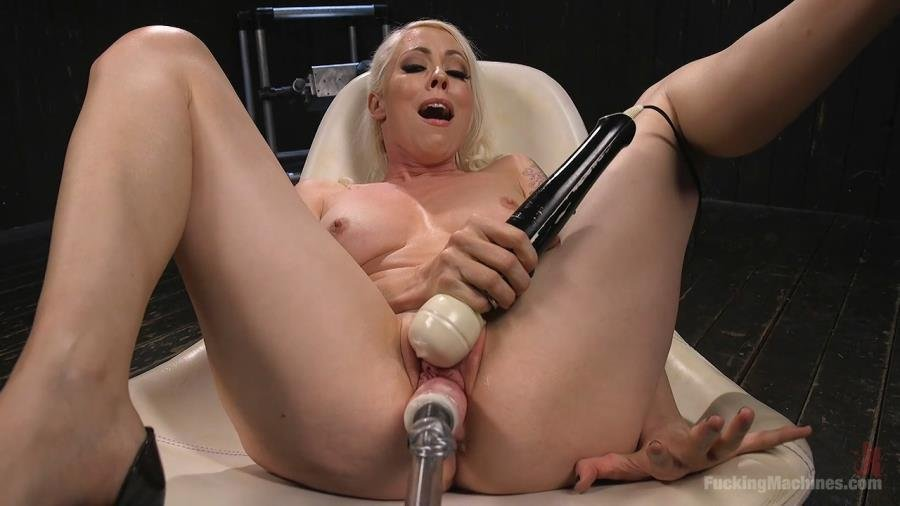 FuckingMachines: (Lorelei Lee) - Blonde Goddess Lorelei Lee is Double Penetrated with Machines!! [HD 720p / 1.09 GB] - Fuck Machine / Masturbation
