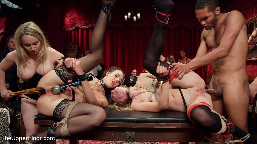 TheUpperFloor: (Aiden Starr, Lilith Luxe, Mona Wales, Bella Rossi, Kira Noir) - A Slave Orgy Like No Other [SD 540p / 740 MB] - BDSM / Rough Sex