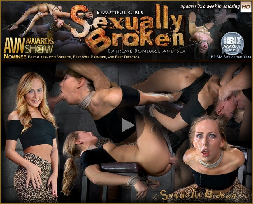 SexuallyBroken: (Carter Cruise) - Blonde girl next door Carter Cruise tied up and ragdoll fucked from both ends messy epic deepthroat! [HD 720p / 310 MB] - BDSM / Bondage