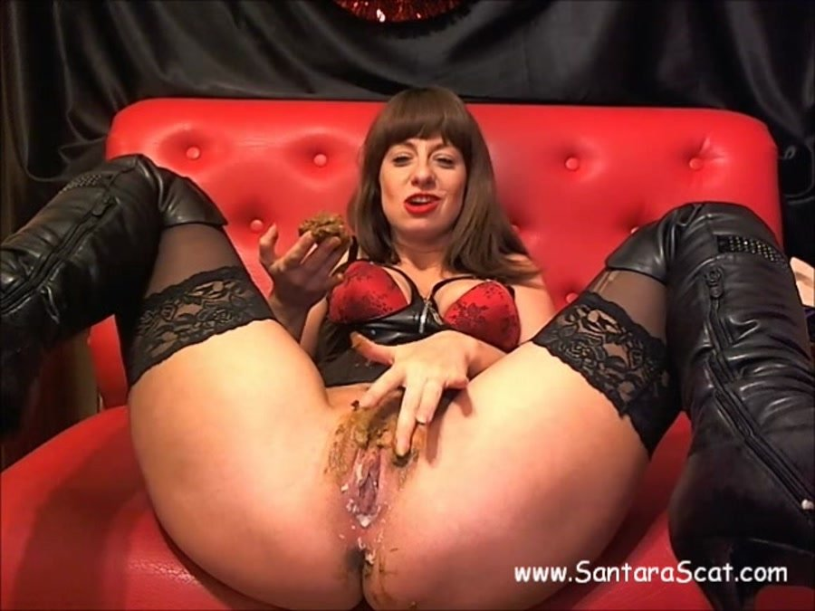 GlamourScat: (Santara) - Do YOU wanna play with my poo [SD / 257 MB] - Scat / Netherlands