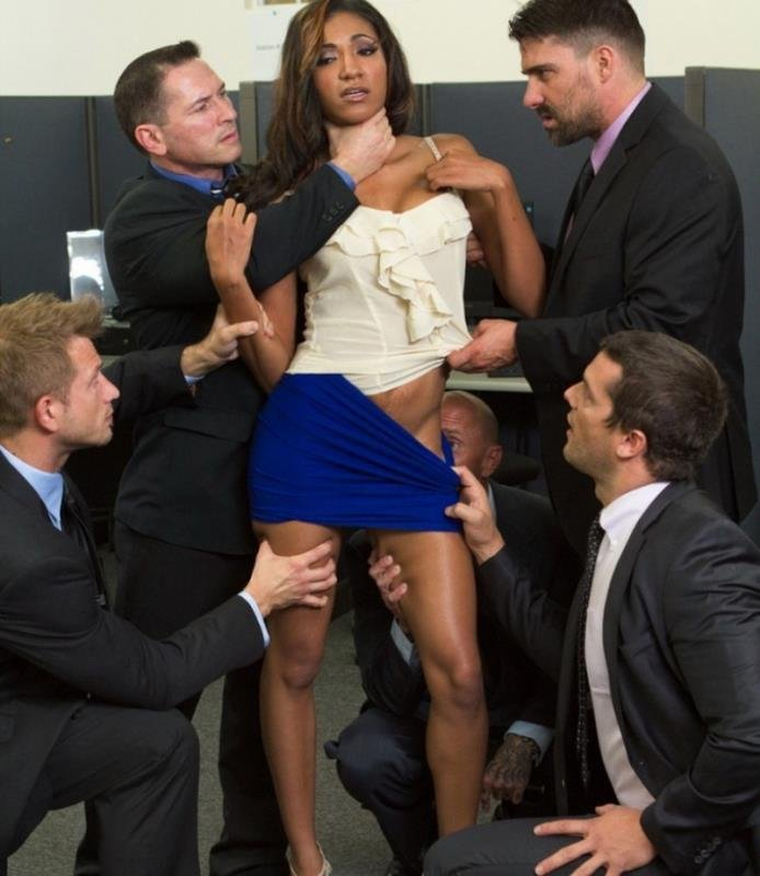 HardcoreGangBang: (Sadie Santana) - Step-father offers her up to 5 guys in order to seal a business deal [SD / 973 MB] - BDSM / Gangbang