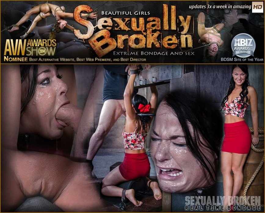 SexuallyBroken: (London River) - London River Bound Over Sybian and Face Fucked, Having Brutal Orgasms That Test Her Restraints! [SD 540p / 138 MB] - BDSM / Domination