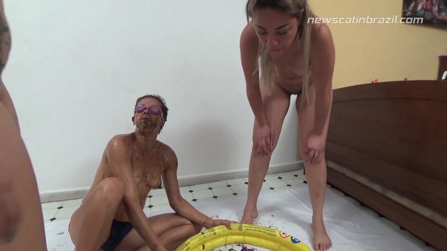 New Scat In Brazil: (Cindy Blueberry, Diana, Marrie) - A Pool of Shit [FullHD 1080p / 1.24 GB] - Scat / DepFile
