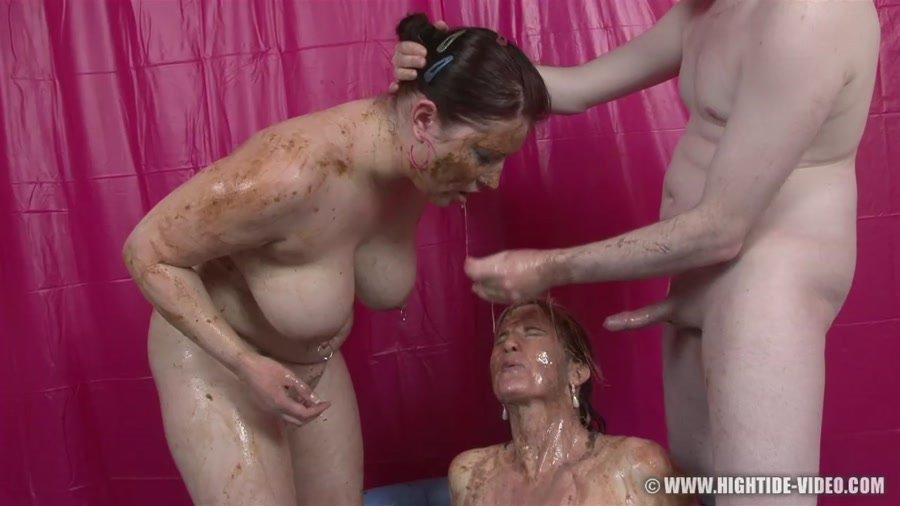 Hightide Video: (Louise Hunter, Prettylisa, 1 Male) - Shit Eater 5 [HD 720p / 850 MB] - Scat Life