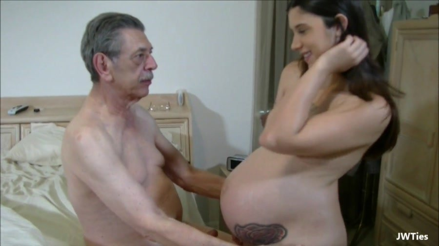 Grandpa and 2 young girls caught and fucked in old young 4