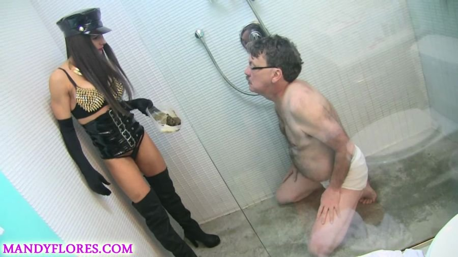 ScatShop: (Mandy Flores) - Extreme smoking and scat humiliation with SlaveRay [FullHD 1080p / 863 MB] - Scat / Femdom