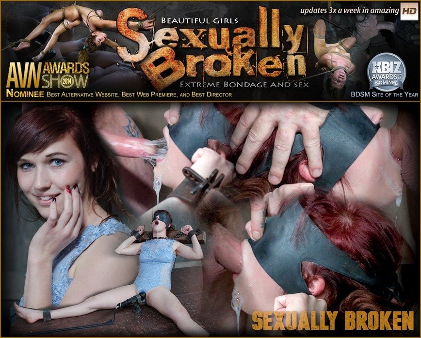 SexuallyBroken: (Stephie Staar, Matt Williams, Sergeant Miles) - Stephie Staar is bound on a vibrator, while being brutally face fucked and deep throated! [HD 720p / 653 MB] - BDSM / Humiliation