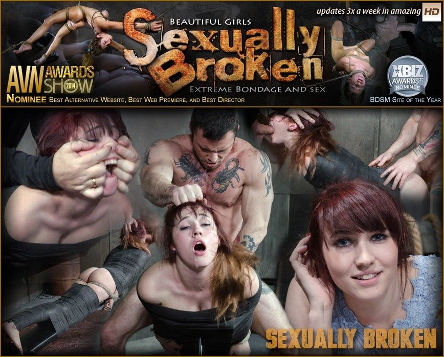 SexuallyBroken: (Stephie Staar) - Stephie Staar slips into Sub Space pretty fast and takes a brutal face and pussy pounding! [HD 720p / 606 MB] - BDSM / Humiliation