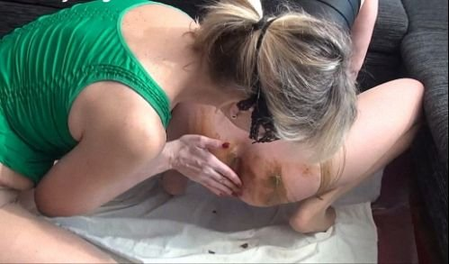 : (ShittyDirty) - 2 Scat Girls [SD / 1.20 GB] - Scatting Domination, Big pile, New scat