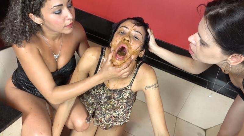 SG-Video: (The Scat Soup Real Swallow) - Extreme Double Scat Domination Dinner [FullHD 1080p / 2.10 GB] - Domination Scat / Lesbian Scat