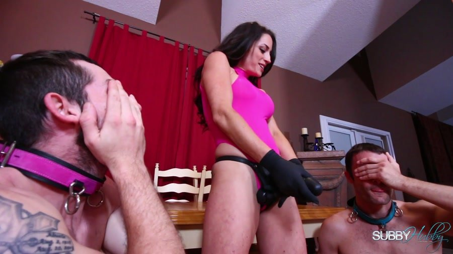 SubbyHubby: (Cleo) - Learning A Goddess's Kinky Appetite [FullHD 1080p / 1.85 GB] - Femdom / Strapon