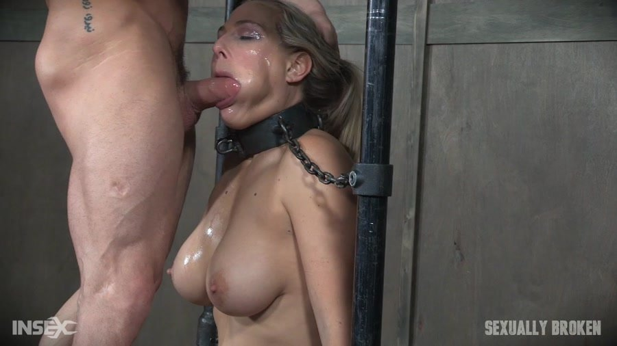 Sexually Broken: (Angel Allwood) - Angel Allwood is neck bound on a Sybian and throat fucked while violently cumming over and over! [HD 720p / 566 MB] - BDSM / Rough Sex
