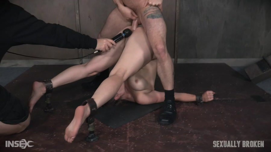 Sexually Broken: (Bella Rossi) - Bella Rossi is brutally fucked while bound in a extreme pile driver, huge cock massive orgasms! [HD 720p / 572 MB] - BDSM / Rough Sex