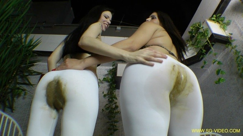 SG-Video: (2 Domina 1 Slave) - Scat Domination White Scat Pants [FullHD 1080p / 3.15 GB] - Pantyhose / Domination Scat