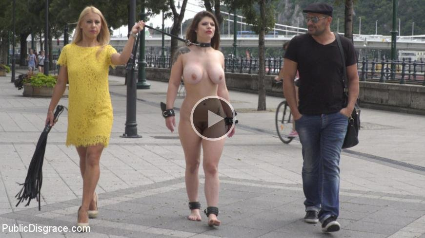 PublicDisgrace: (Lucia Love, Nikki Thorne) - Hungary for Lucia Love [SD / 747 MB] - BDSM / Public Disgrace