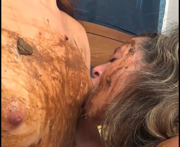 (ScatGoddess) - The Chocolate Is All Gone Lets Eat Scat [FullHD 1080p / 1.29 GiB] - Poopping, Shitting, Big pile