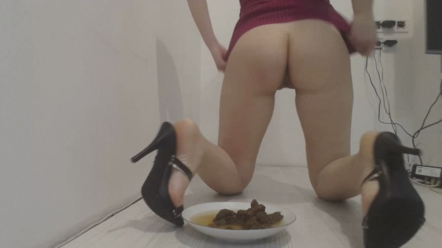 Shit Smeared: (Love to Shit Girls) - Your Dinner Heels Poop [HD 720p] - Solo Scat / Scat Super Stars