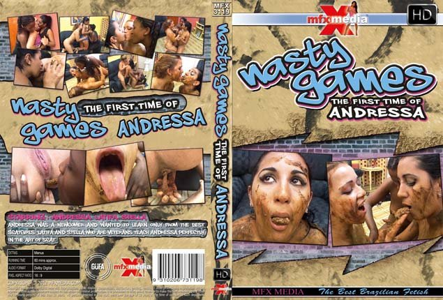 MFX Media: (Andressa, Latifa, Stella) - MFX-3119 - Nasty Games - 1st Time of Andressa [SD] - Scat / Lesbian