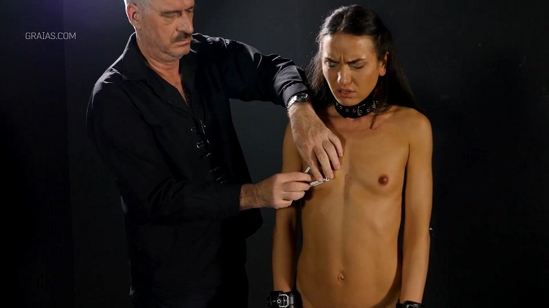 Graias: (Natalie) - Making The Shy Lingerie Model Suck Cock Part 1 [FullHD 1080p] - BDSM / Torture