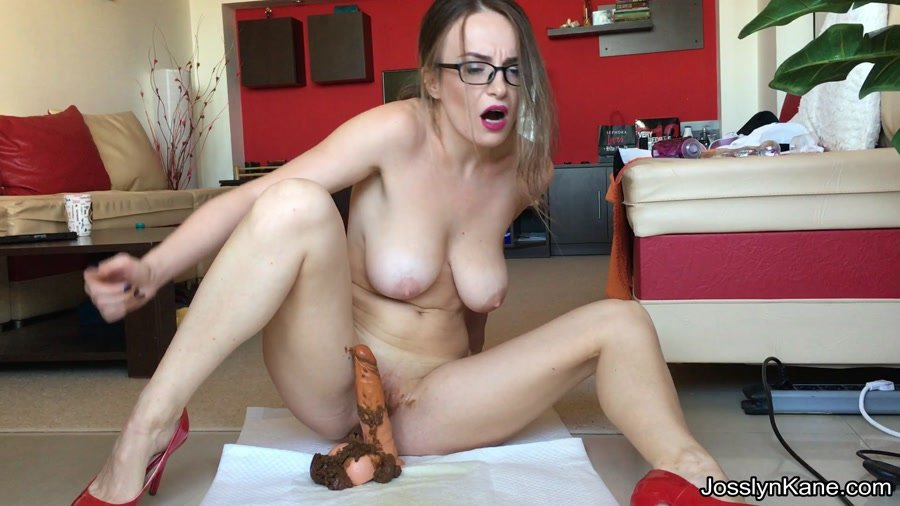 Extreme Defecation: (JosslynKane) - Strip tease and pooping on your cock [FullHD 1080p] - Defecation / Solo