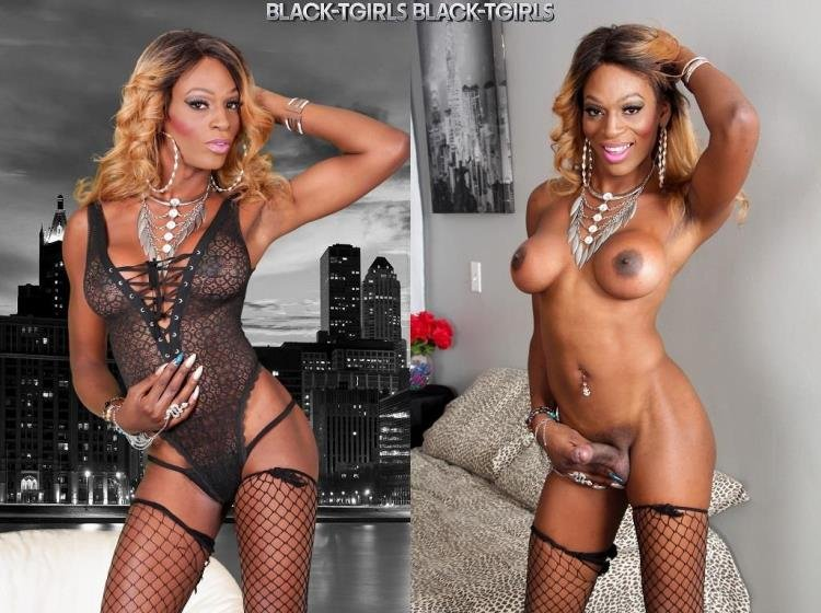 Black-TGirls: (Stella) - Stella Rivera Jacks Her Cock! [HD / 443 MB]