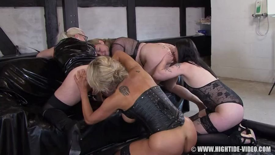 Hightide-Video: (Betty) - Betty & Friends - Four Of A Kind [HD 720p] - Lesbian, Humiliation