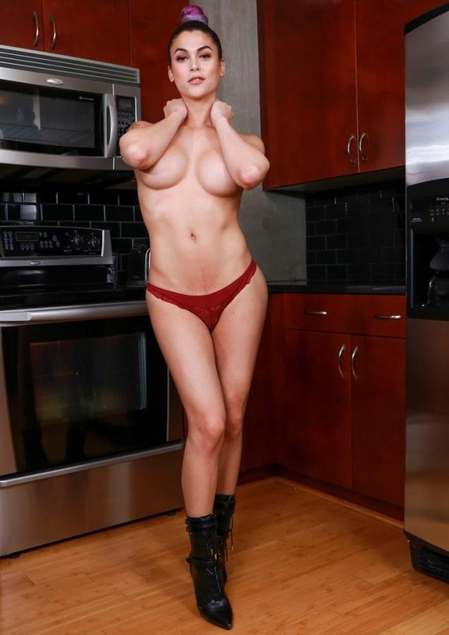 shemale: (Domino Presley) - Domino Presley - Sultry Domino's Solo Kitchen Play [HD / 607 MB]