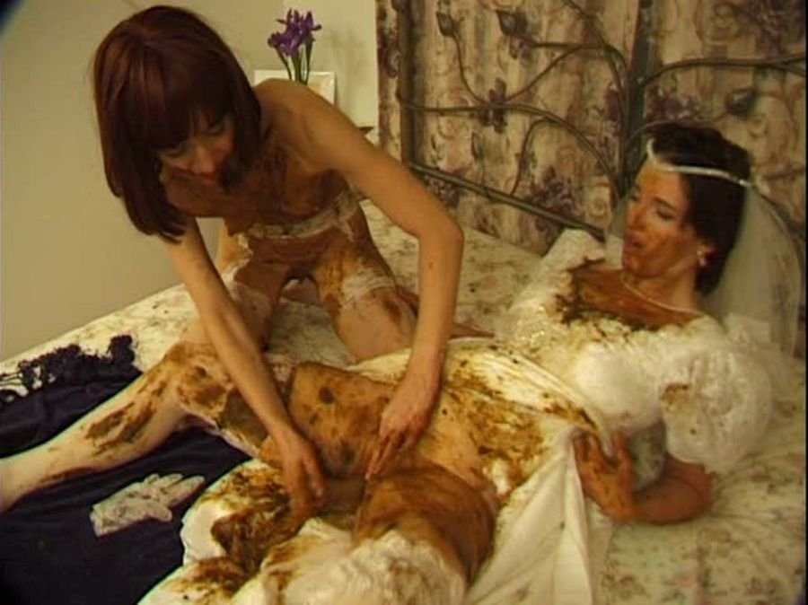 Hightide-Video: (Prettylisa, Lady St. Claire, 1 male) - Brown Wedding Night [SD] - Humiliation, Femdom Scat