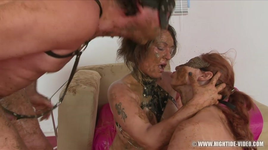 Hightide-Video: (Regina Bella, Gina, 1 Male) - SCAT SUBMISSION 2 [HD 720p] - Scat, Lesbians, Group