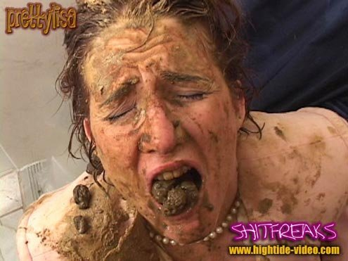 Hightide-Video: (Models: Prettylisa , various males) - SHITFREAKS [SD] - Scat, Fisting, Gaping
