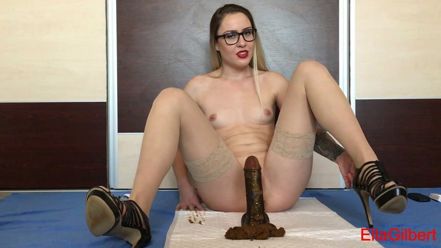 Stars Scat: (EllaGilbert) - Cum over my full of shit heels [FullHD 1080p] - Scatology, Solo