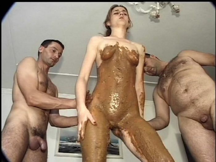 Amateur Sex: (Glory) - Sexy Brunette In Plateau Sandals Enjoying A Scat Threesome [SD] - Threesome Scat, All Sex