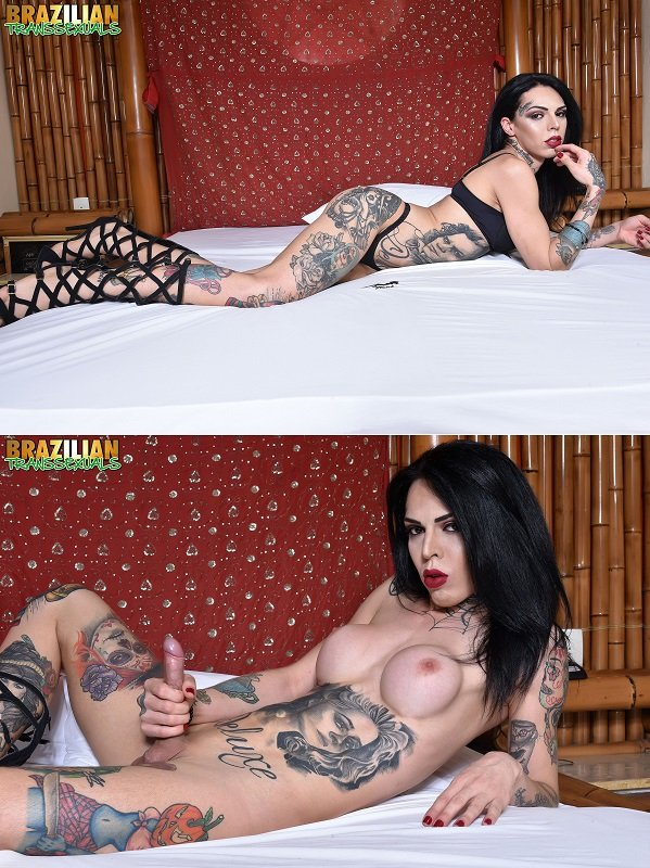 Brazilian-transsexuals.com: (]Gaby Ink) - TS Gaby Ink [FullHD 1080p / 781 MB] - Shemale, Solo