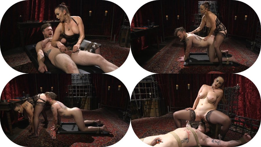 Kink.com: (Bella Rossi) - Gorgeous Sadist Bella Rossi Torments An Unsuspecting Mike Panic [SD / 704 MB] - Femdom, Strap-on