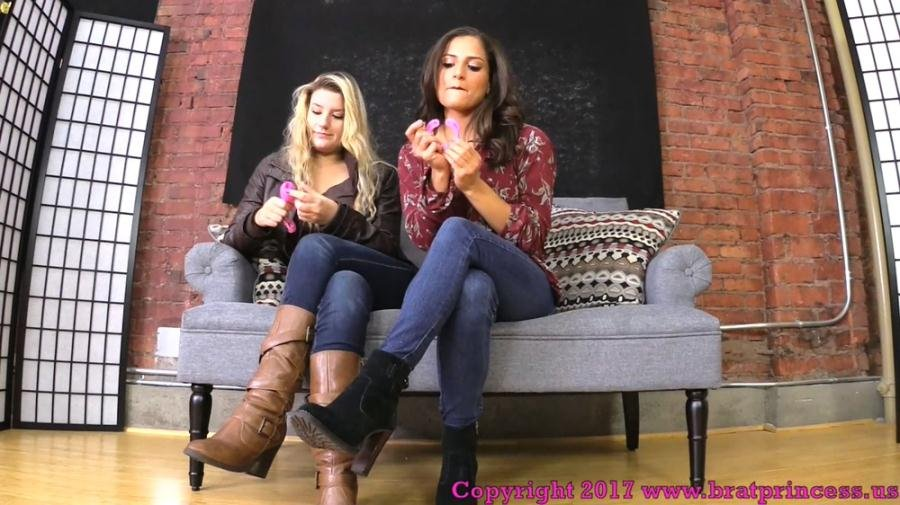 BratPrincess: (ChiChi, Chloe) - You Need To Be Locked In Chastity Before You Worship Our Feet [FullHD 1080p / 700 MB] - Humiliation, Foot Worship