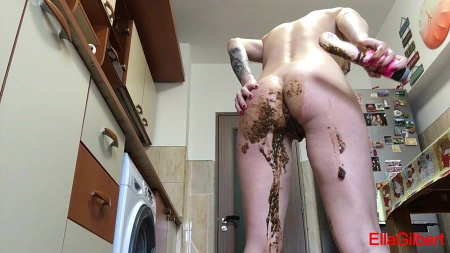 Scatting: (EllaGilbert) - Messing my white panties with Diarrhea [HD 720p] - Solo Scat, Shitting